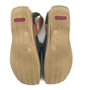 Rieker Shoes - Rieker Antistress Sling Back Slip Ons Flats 39